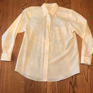Pale yellow, oxford-style shirt, EUC, size 12